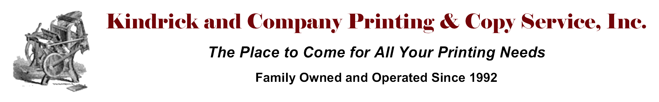 Kindrick and Company Printing & Copy Service, Inc.